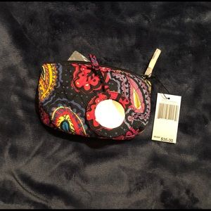 Brand new Vera Bradley makeup bag with mirror.